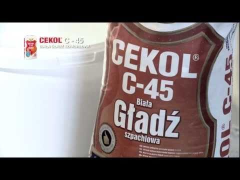 Cekol - Maszynowe szpachlowanie Cekol C-45