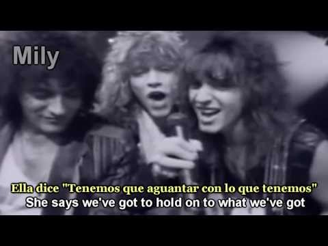 Bon Jovi - Livin' On A Prayer Subtitulado Español Ingles