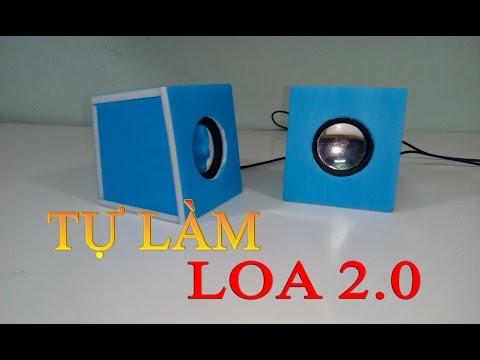 Hướng dẫn làm Loa di động 2.0 mini, tự làm loa PC Laptop cho riêng mình