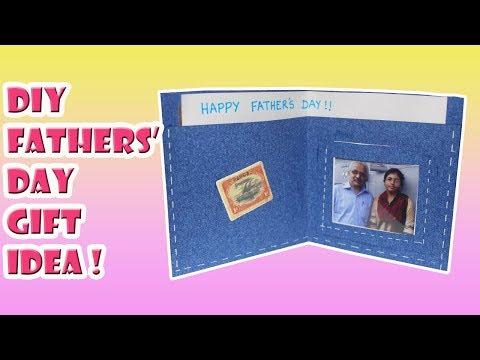 DIY Fathers' Day Gift Idea - Wallet Greeting Card | Saminspire