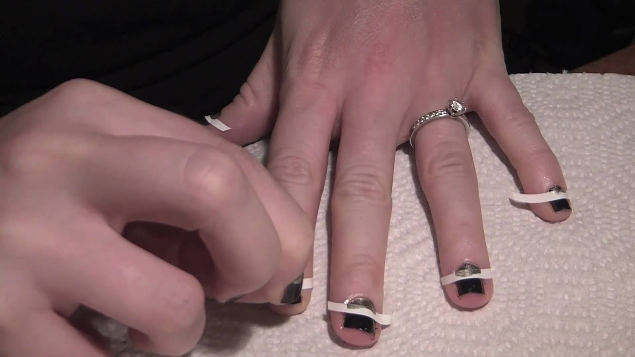 Youtube Reverse French Manicure 24