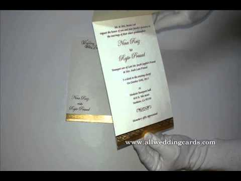 W-5150,250 GSM, Matte Ivory , Indian Cards, Hindu Cards, Muslim Wedding Invitations