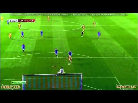 Lionel Messi again for Tello Hat trick Goal Levante 1 4 Barcelona  Copa del Rey