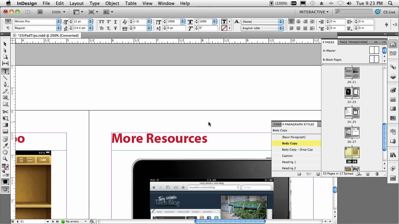 Creating an iBook (ePUB) for the iPad with InDesign CS5 ...