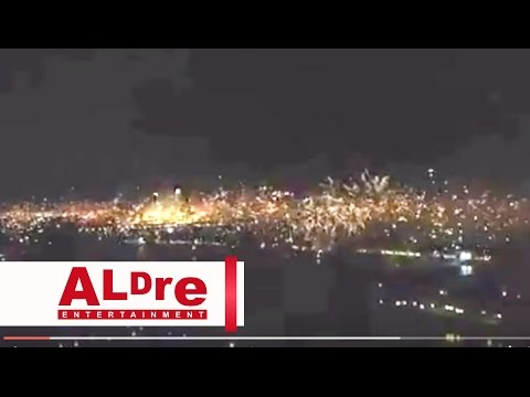 Dubai Amazing firework Show Sylvester Party 2014 [HD]