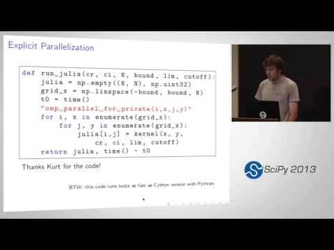 Image from Pythran: Enabling Static Optimization of Scientific Python Programs; SciPy 2013 Presentation