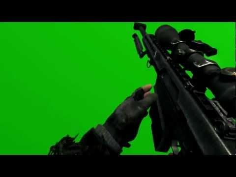 green screen mw3 barret.50 call of duty