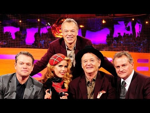 MATT DAMON, BILL MURRAY & HUGH BONNEVILLE Cause Mayhem - The Graham Norton Show on BBC AMERICA