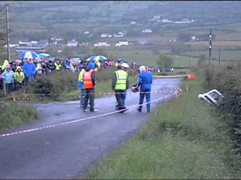 DONEGAL INTERNATIONAL RALLY 2012 DANIEL AND MICHAEL DOHERTY CRASH
