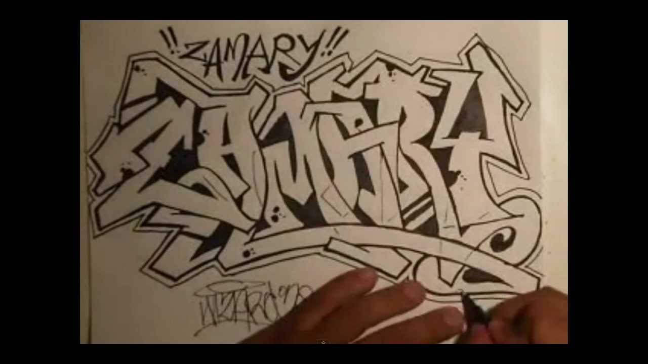 how to draw graffiti by wizard youtube