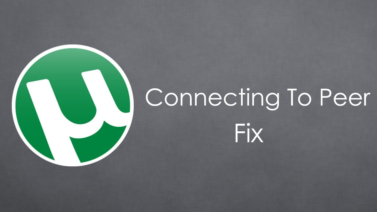 Utorrent Finding Peers Problem