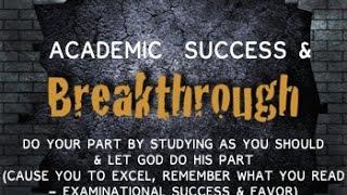 Prayer For Academic Success & Breakthrough