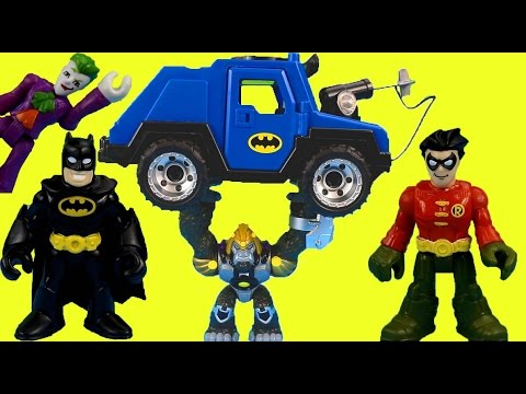 Imaginext Batman saves Robin from Joker Gorilla Grodd & Bane Gotham city Superheroes Just4fun290