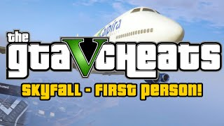 GTA 5 Cheats PS4: Skyfall In First Person! (Grand Theft
