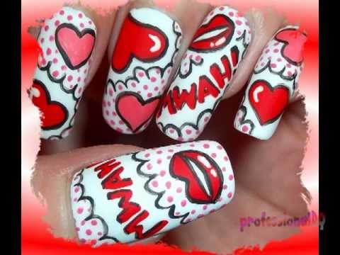 Pop Art Inspired MWAH Nails!