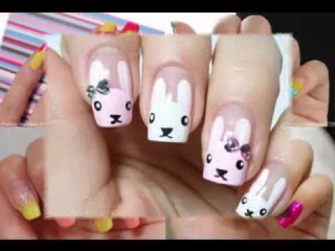 Cool korean nail art design ideas - YouTube