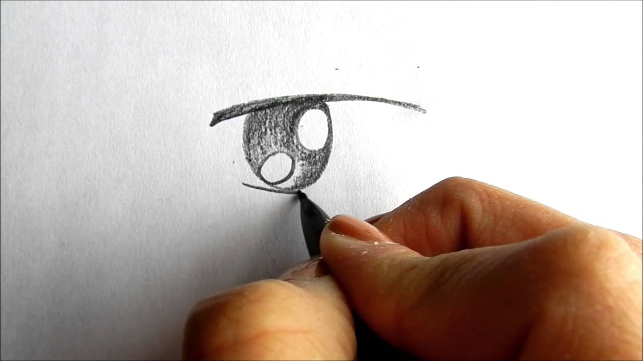 how to draw animated realism eyes