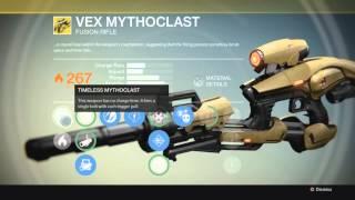 Destiny EXOTIC: Gun Vex Mythoclast Primary Fusion