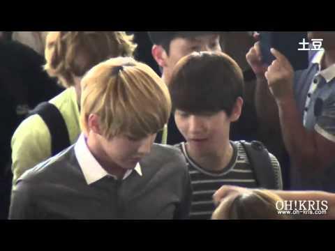[Fancam] 120803 EXO @ Gimpo Airport (Kris focus)