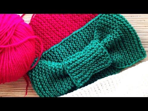 Видеоуроки вязания повязок на голову