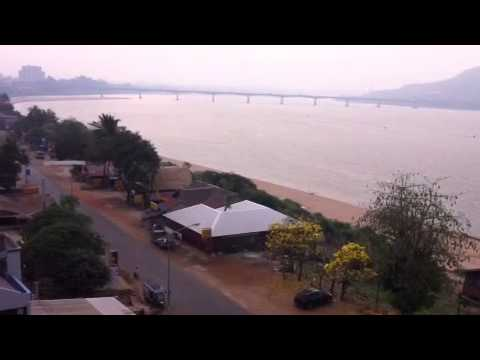 Pakse City View along Mekong river, Champasak, Laos