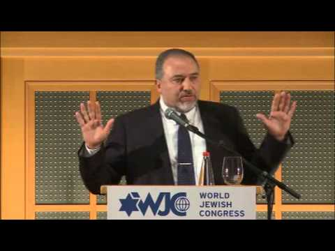 Avigdor Liberman at WJC's Executive Committee meeting