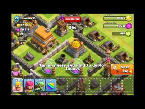 Làm nhiệm vụ Kiếm 450 gems trong clash of clans