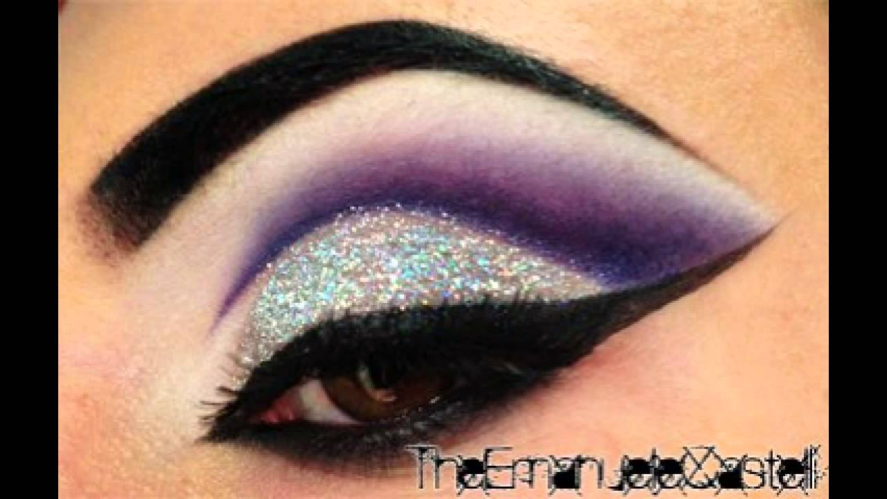 Purple Cut Crease & Glitter