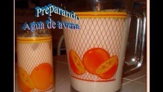 Receta Rica Agua De Avena