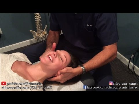 Chiropractic Adjustment on a Facebook Fan with a Computer Desk Job
