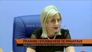Pranimi i studentve t privatve  Top Channel Albania  News  L