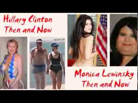 Then and Now Hillary Clinton and Monica Lewinsky Weight Gain #388 np
