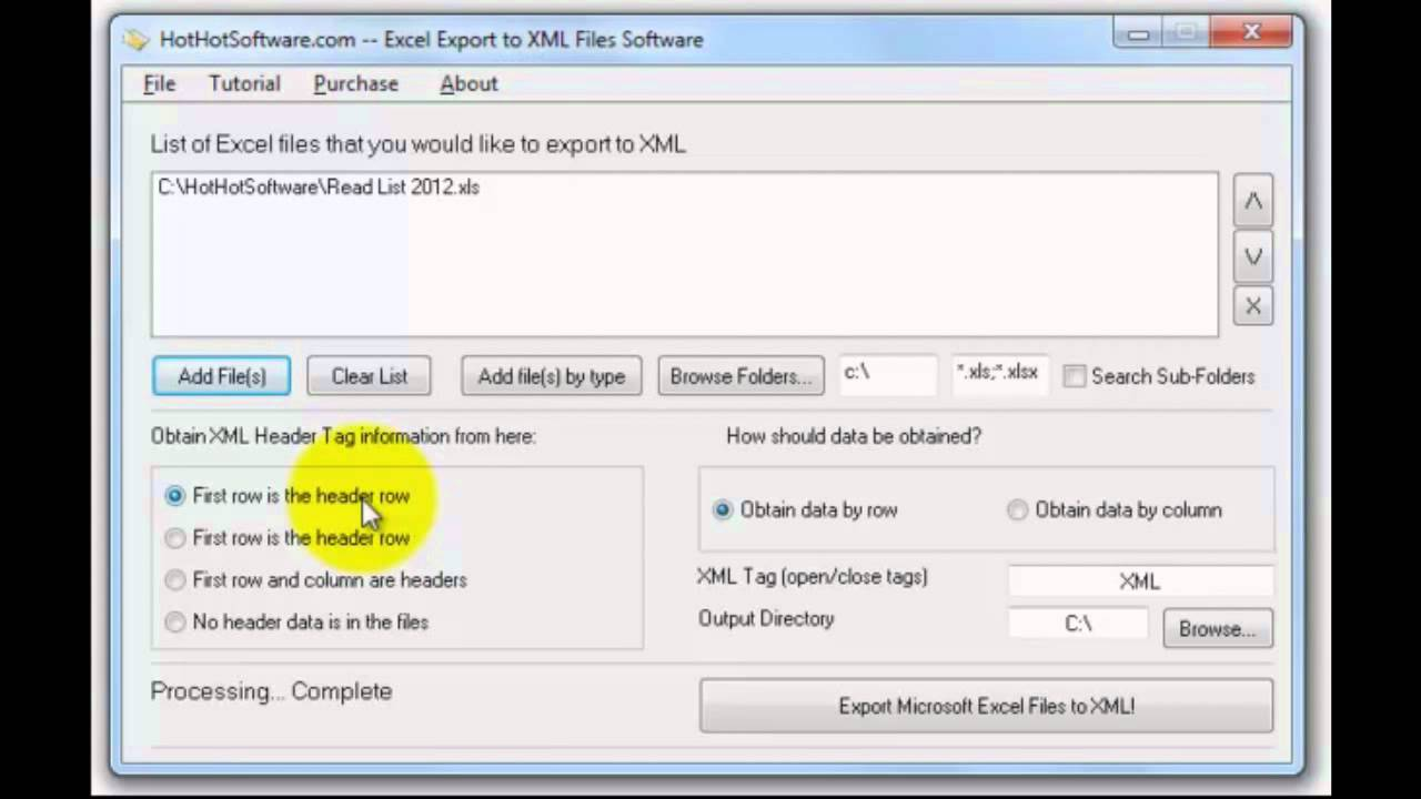 How to Excel Export to XML Files - YouTube