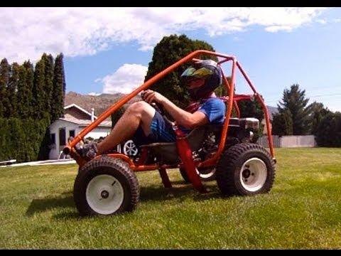 Homemade Go-Kart Walk-Around (+Bonus Rollover)