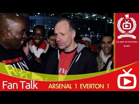 Arsenal FC 1 Everton 1 - Claude Has A Rant About Pizza Eating Fans