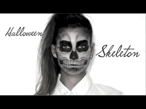 lufy squelette maquillage halloween skeleton makeup. Black Bedroom Furniture Sets. Home Design Ideas