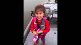 Little Girl Catches 5lb. Bass With A Barbie Fishing Pole
