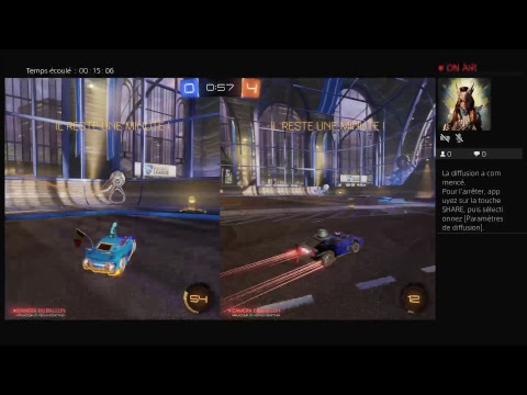 Amazing 'skills' Double Rocket League PS4 Pro LIVE