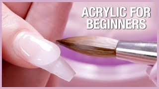 💅🏼Acrylic Nail Tutorial - How To Apply Acrylic For Beginners 🎉📚
