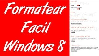 Como Formatear Windows 8