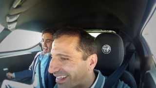 Marc Gen� al volante del Alfa Romeo 4C