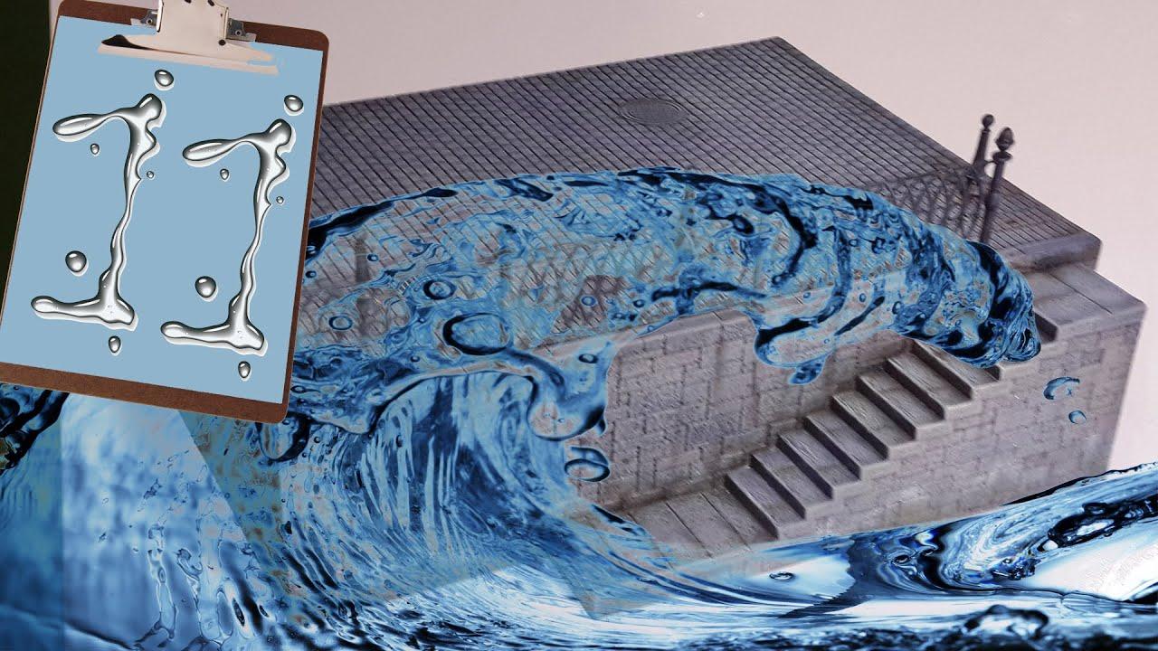 Как сделать воду макет