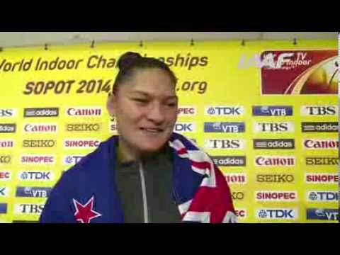 Sopot 2014 - Valerie ADAMS - NZL - World Indoor Championships
