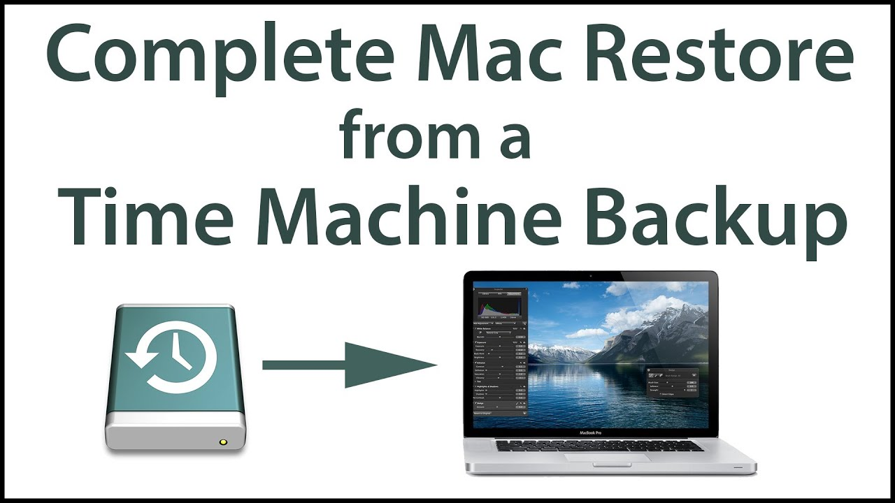 restoring drive from time machine