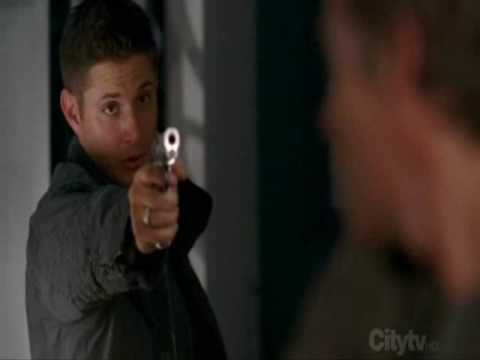 Supernatural 3.03 - I'm Batman!, I love these guys! This episode was too funny. This is from episode 3x03 - Bad Day At Black Rock...and yes....Jensen's Red Hood, lol.