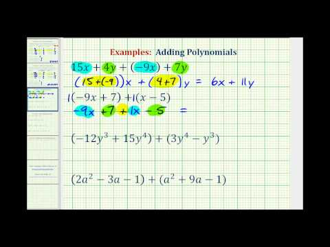 Examples: Adding Polynomials
