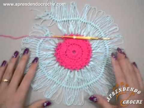 Croche de Grampo em Círculo - Aprendendo Crochê