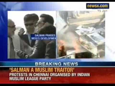 Protests against Salman Khan for praising Narendra Modi - NewsX
