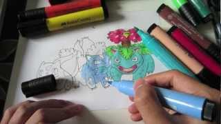 How To Draw Pokemon: No.1 Bulbasaur, No.2 Ivysaur And No.3