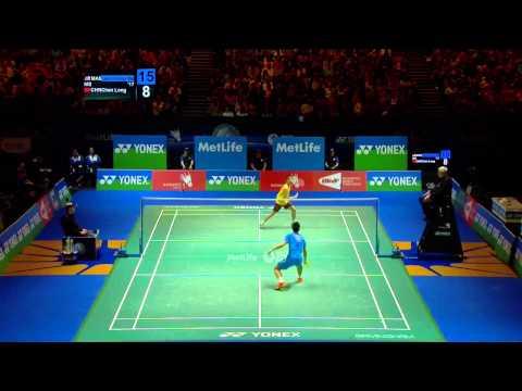 Badminton Highlights - Lee Chong Wei VS Chen Long - All England 2014 MS Finals